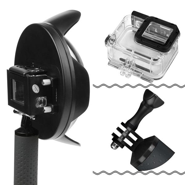 SHOOT Professional 6 inch 40m Diving Dome Port Fisheye Lens Cover for Gopro Hero 5 Black