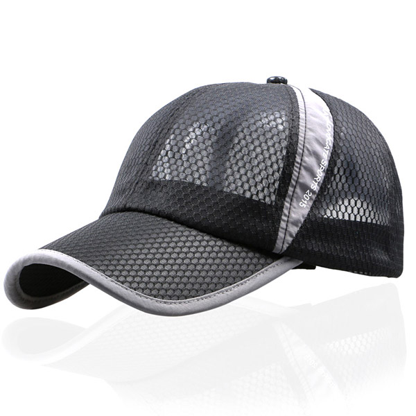 Unisex Men Women Mesh Breathable Summer Hat Sport Adjustable Buckle Baseball Cap