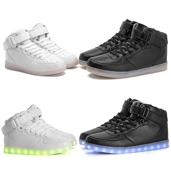 Unisex USB LED Light Luminous Couple Sneakers