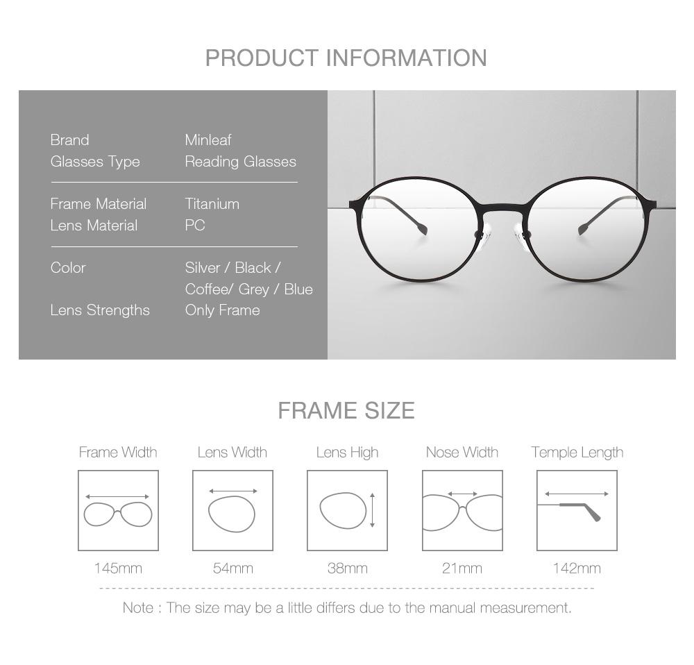 f4c0b076128 minleaf titanium alloy glasses frame at Banggood sold out
