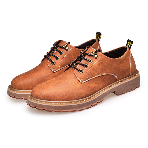 Lace Up Soft Sole Casual Round Toe Flat Oxfords For Men