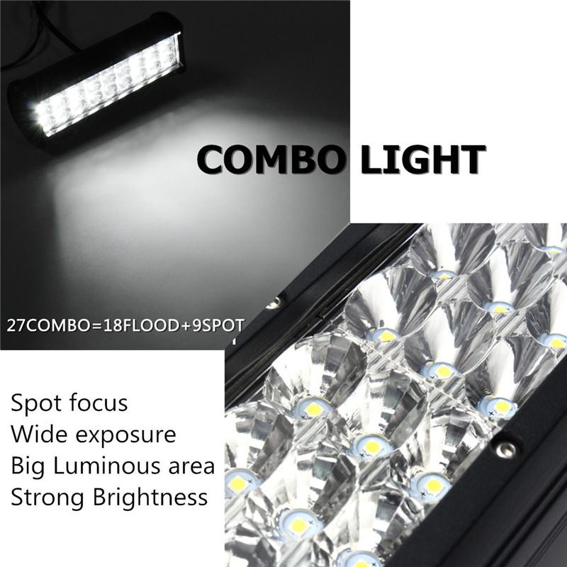 9 Inch 135W LED Light Bar Flood Spot Combo Off Road Car Truck 10-30V