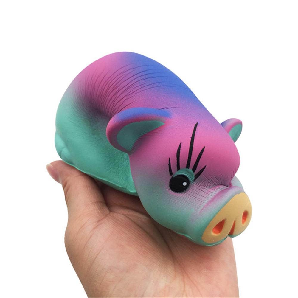 GiggleBread Squishy Colored Pig 12*9*5.5CM Licensed Slow Rising With Packaging
