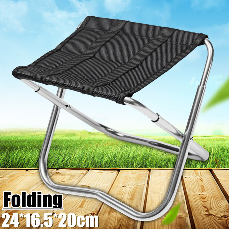 Outdoor Portable Aluminum Folding Chair Outdoor Camping Picnic Stool Seat