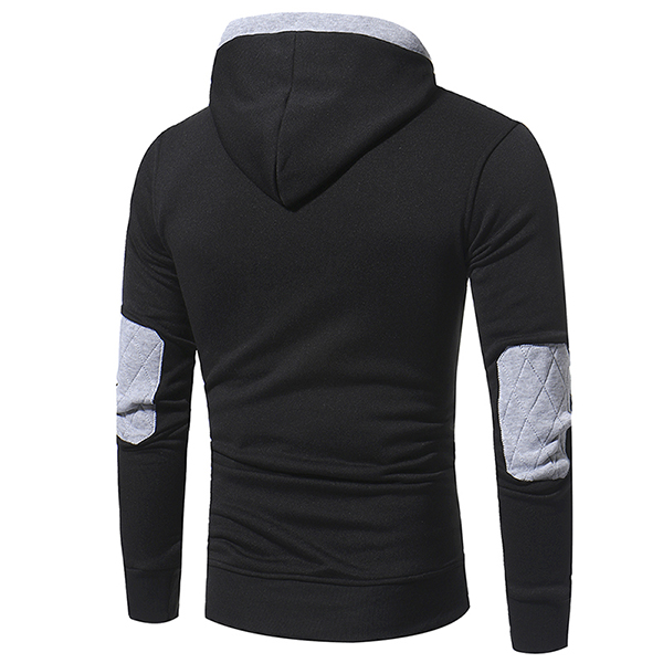 Youth Fashion Mens Sweater Mens Casual Pullover Hooded Sweater Coat