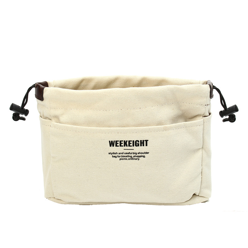 Canvas Organizer Bag Drawstring Bags Camping Travel Org