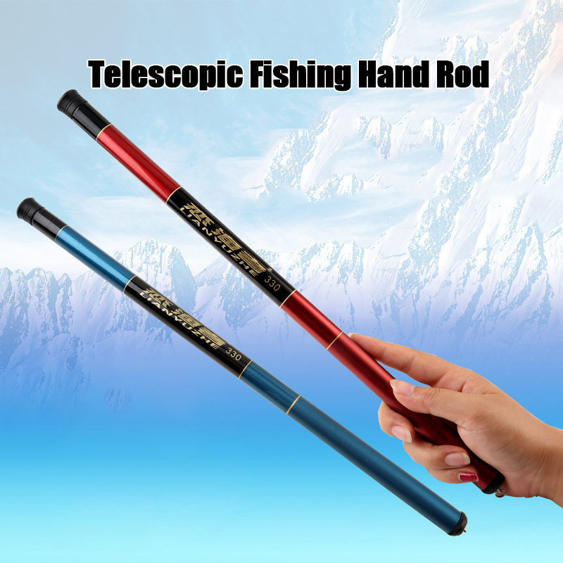 0005 2.4m/3.0/3.6m Fiberglass Telescopic Fishing Rod Hand Freshwater River Rod Portable Fishing Tackle