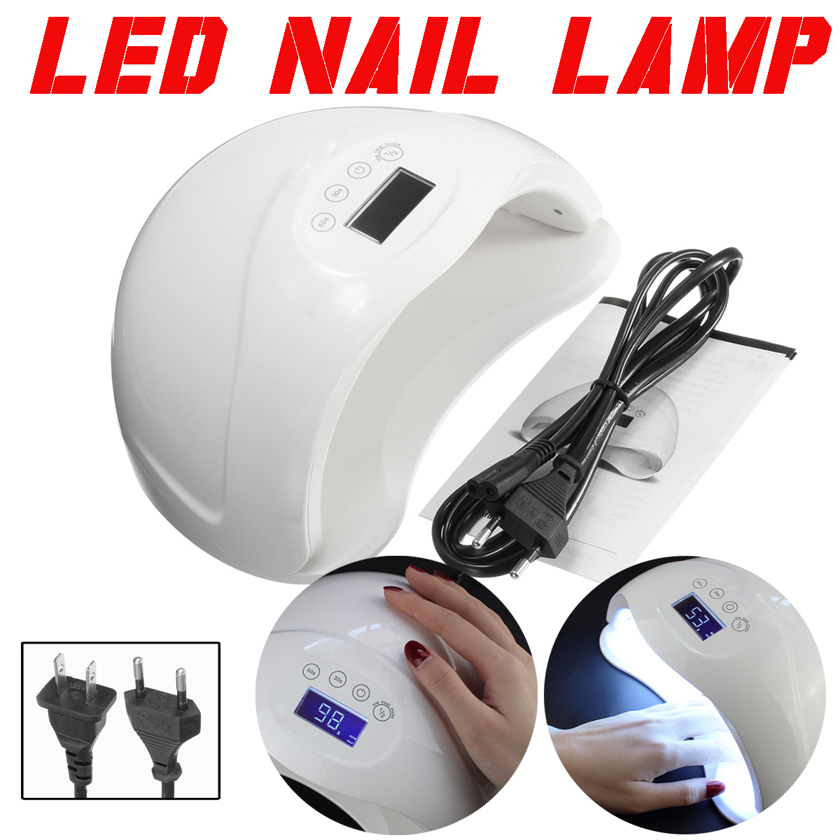 48W LED UV Professional Nail Art Lamp