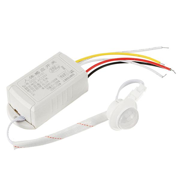 PIR Infrared Body Sensor Intelligent Light Motion Sensing Switch for LED Light AC220V
