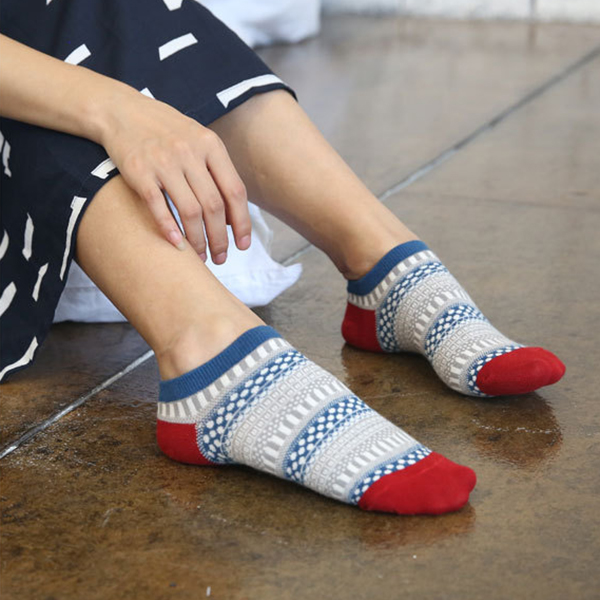Women Vintage Folk-Custom Breathable Cotton Ankle Socks