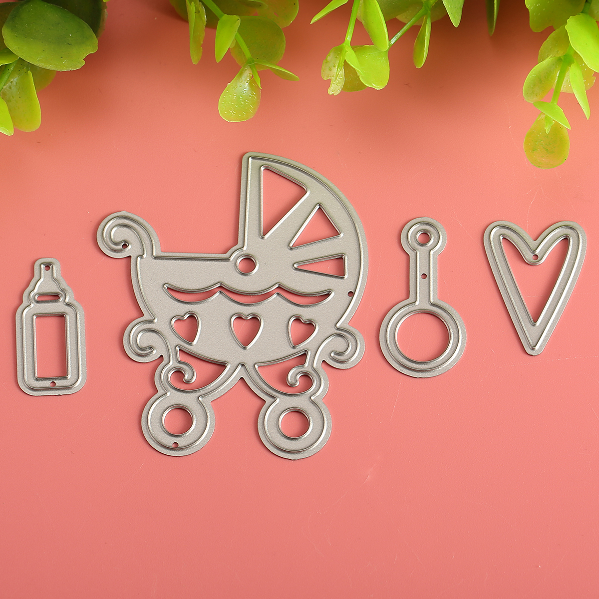 Baby Carriage Cutting Dies Stencil Scrapbook Card Album Paper Embossing Craft