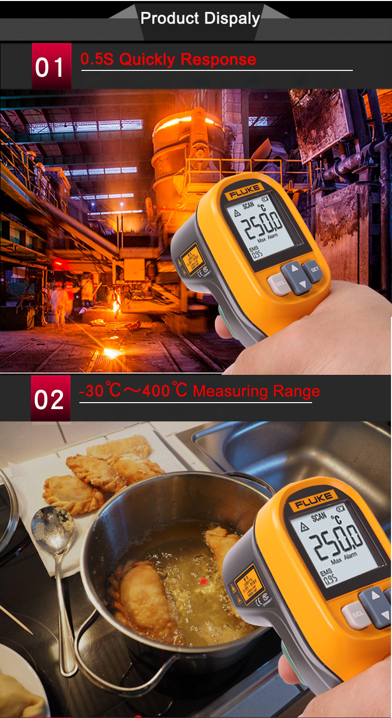 Fluke MT4 MAX Digital Non-contact IR Thermometer Temperature Tester -30°C~350°C