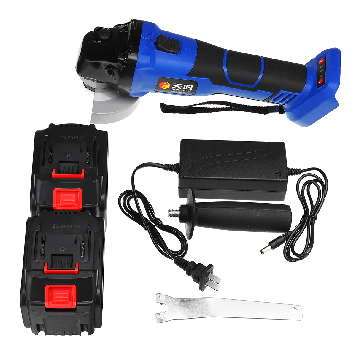 168VF 22500mA Rechargeable Cordless Eectric Angle Grinder Set with 1Pcs or 2Pcs Li-ion Batteries