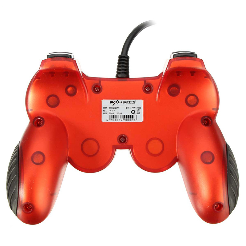 PXN-2901 Sword Wired Dual Vibration Gamepad for Xbox 360 PC Smartphone with OTG
