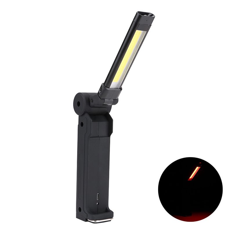 XANES M270 Foldable Magnetic Tail USB Rechargeable COB Flashlight Work Lamp Light Mini Torch