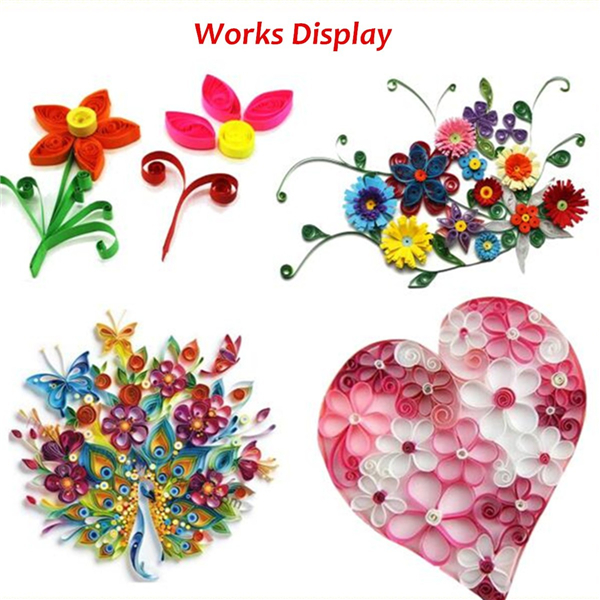 2 Slotted Electric Paper Quilling Tools Winder Steel Curling Pen DIY Paper Craft