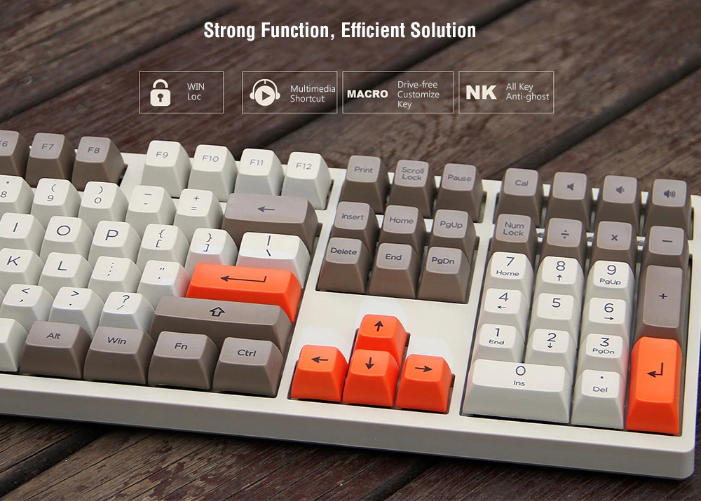 AKKO 3108 V2 Steam Engine 108 Key SA PBT Keycaps Cherry MX Switch Mechanical Gaming Keyboard