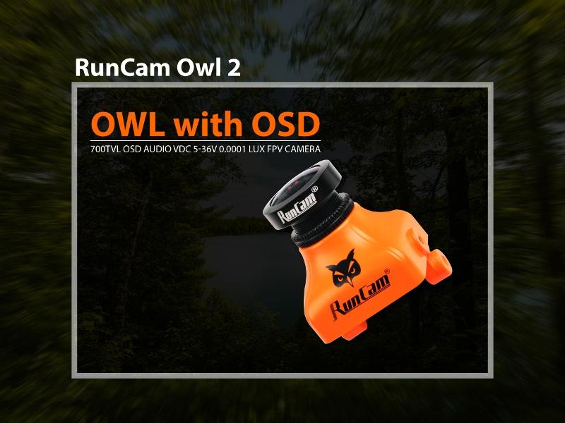 Runcam OWL PLUS 2 OWL2 Camera Build in OSD 1/2 700TVL FOV 150 Degree PAL/NTSC DC5V-36V For RC Drone
