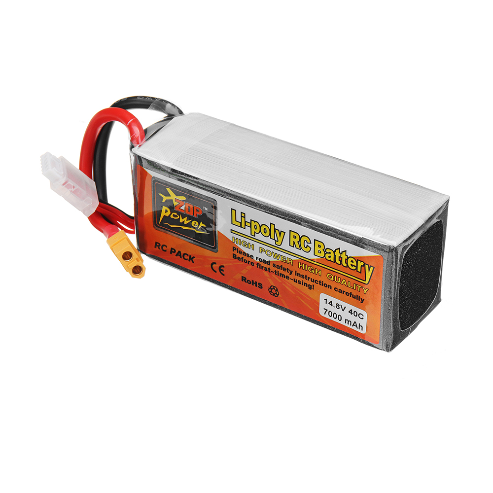 ZOP Power 14.8V 7000mah 40C 4S Lipo Battery XT60 Plug for RC Model - Photo: 3