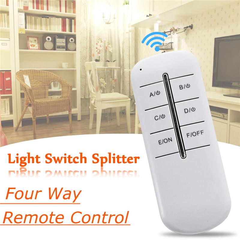 1000W 220V Four Way Intelligent Remote Control Switch LED Lamp Wireless Remote Control Switch