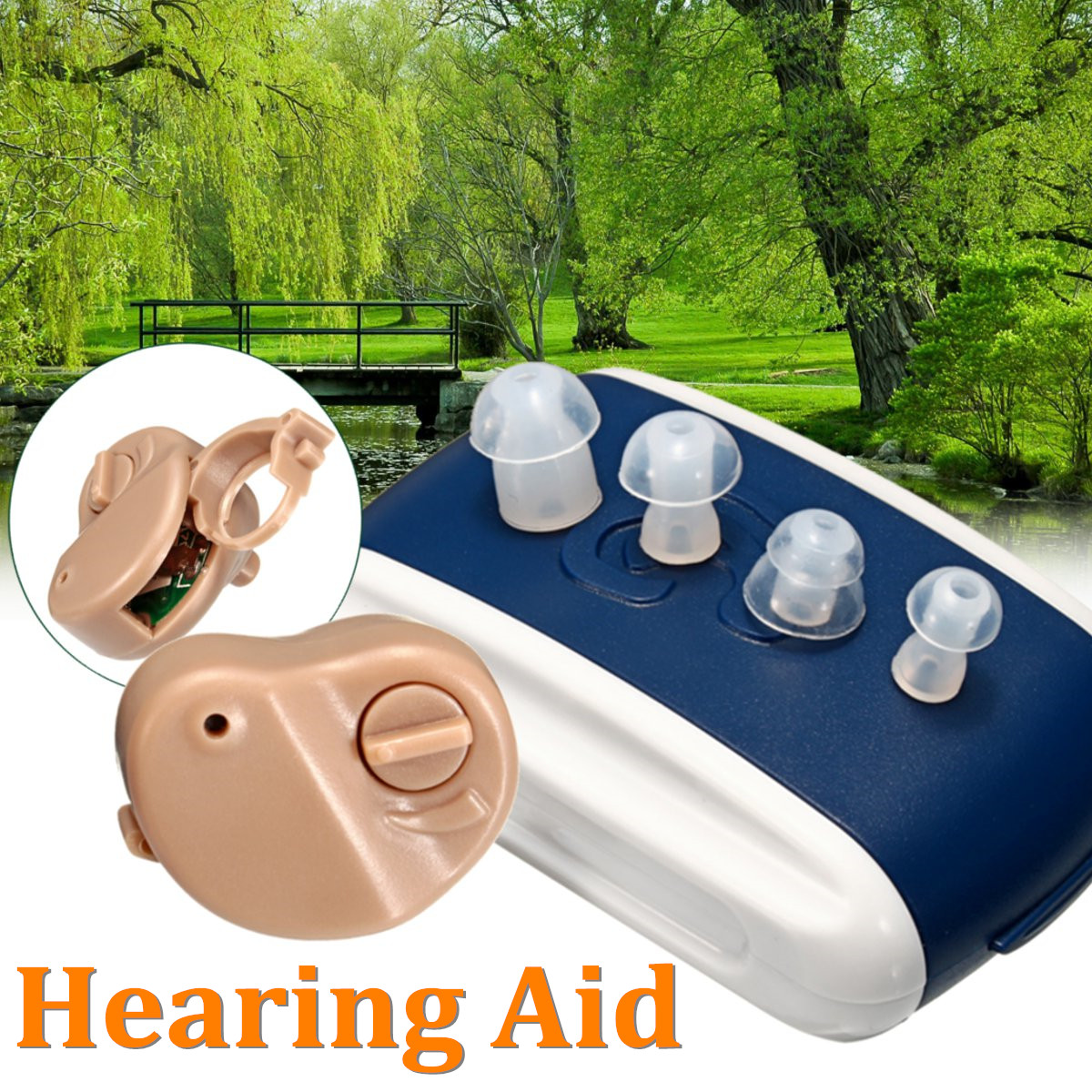 Adjustable Digital Hearing Aids Mini In-Ear Best Sound Voice Amplifier Invisible
