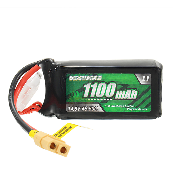 Eachine 4S 14.8V 1100mAh 50C Lipo Battery XT60 Connector For Racer 250 PRO FPV Racing RC Drone