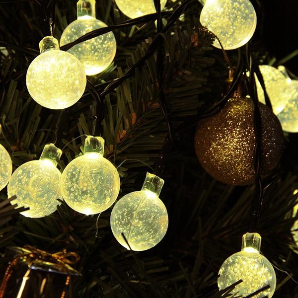 4.8M 30 LED Solar Powered Ball String Light For Wedding Christmas Garden Outdoor Decoration