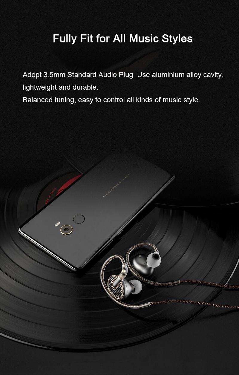 Xiaomi EN700 MKII Hi-Fi In-ear Earphone Hi-Res Audio Authentication Single Commutative Line Headset Fitness Sport Earphone