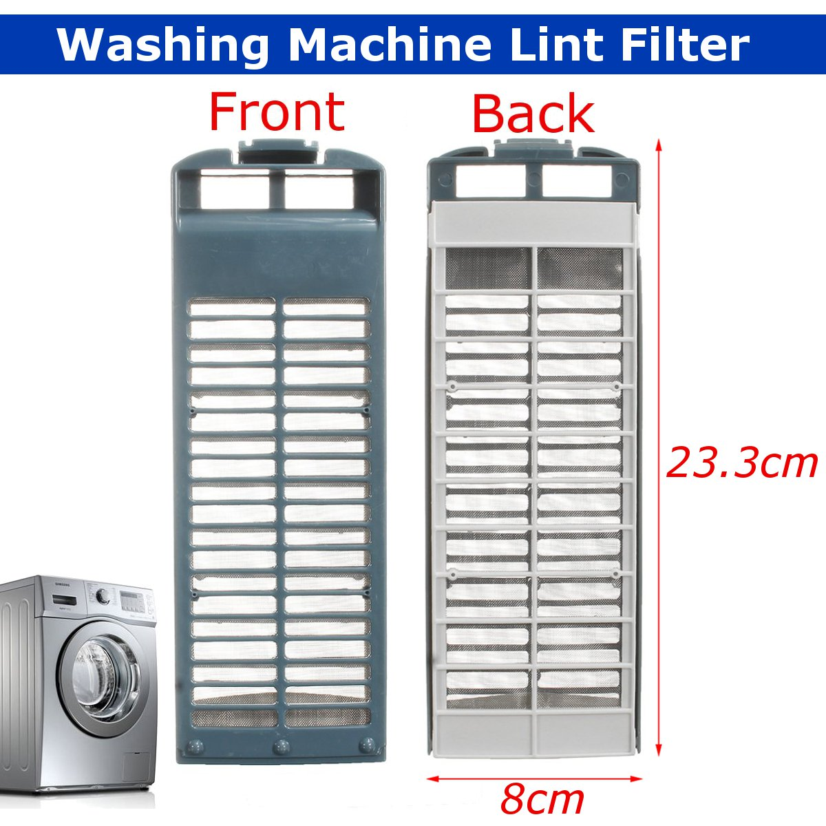 8cmX23.3cm Washing Machine Magic Lint Filter For Samsung