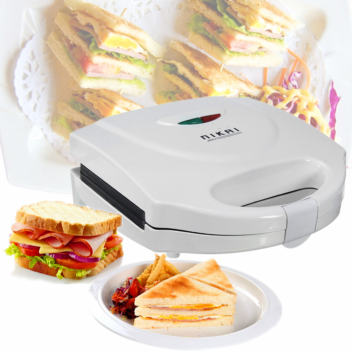 Electric Sandwich Toaster Toasties Maker Non Stick Panini Cooker Grill Machine Oven