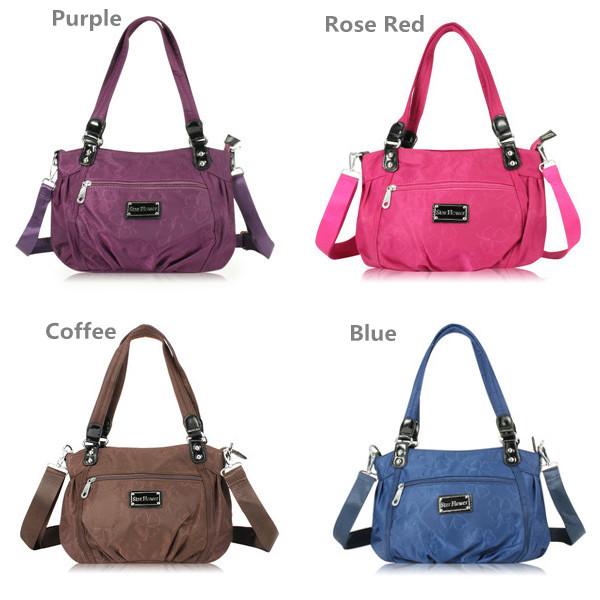 Flower Pattern Waterproof Handbags Casual Shoulder Bags Sports Crossbody Bags Shopping Bags