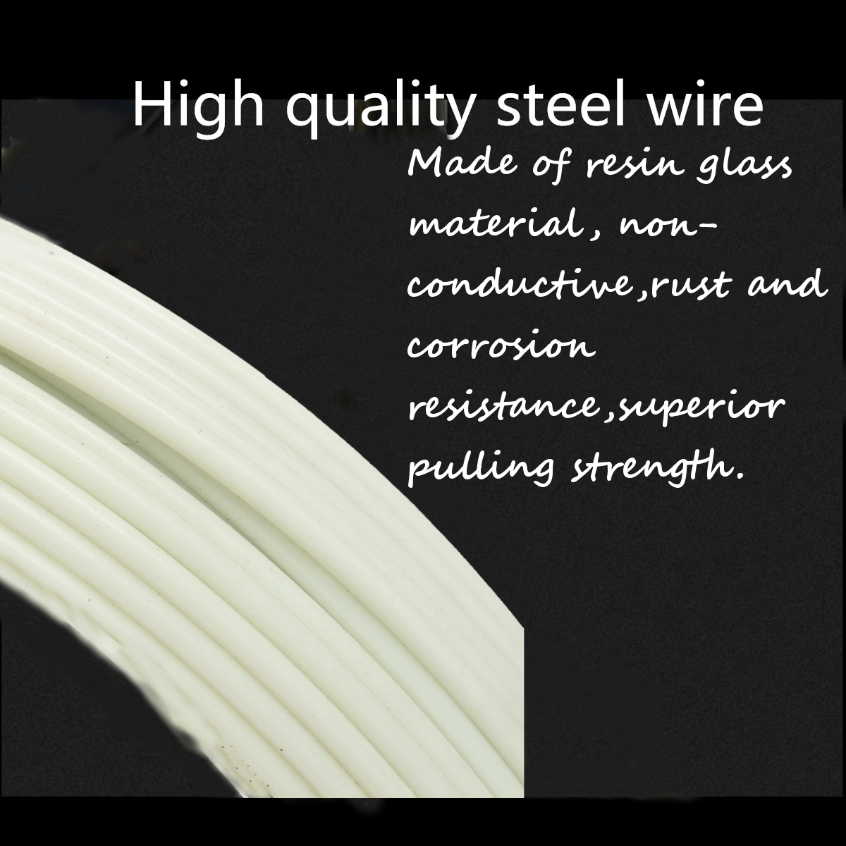 4.8mm 100m Fish Tape Fiberglass Wire Cable Running Rod Duct Rodder Puller