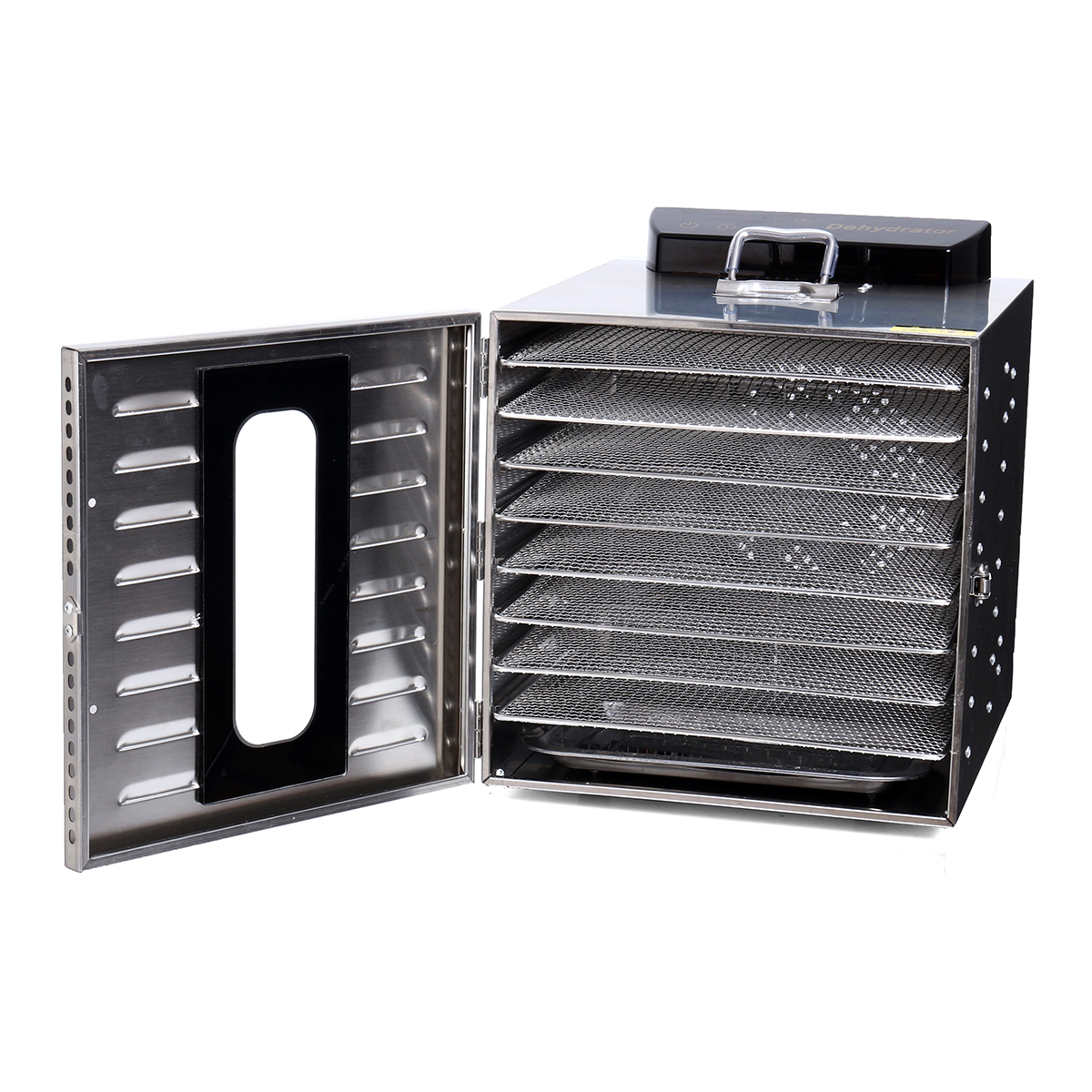 8 Tray Food Drying Machine Jerky Stainless Steel Fruit Dryer Maker Commercial Dehumidification
