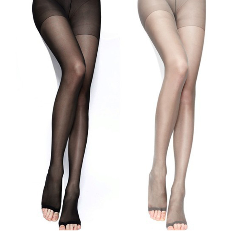 Women Ladies Sexy Open Toe Sheer Ultra Thin Tights Pantyhose Stockings Socks