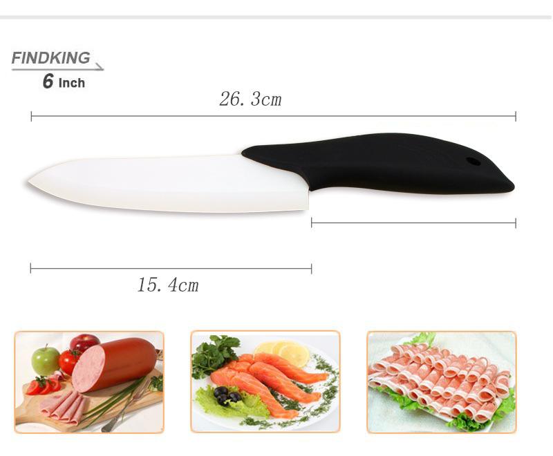 FINDKING Dolphin Shape Black Handle Fruit Kitchen Knife Set 3