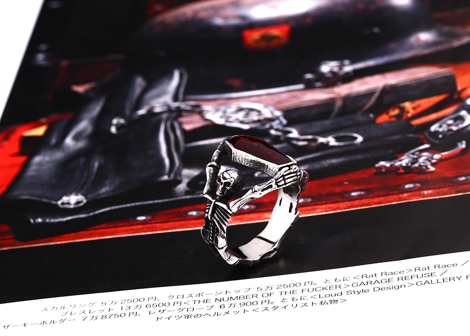 Retro Gothic Titanium Steel Men Ring Vampire Coffin Punk Halloween Gift for Men