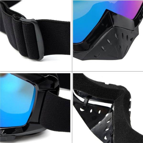 Motorcycle Motocross Windproof Goggles Anti-UV Glasses Dustproof Anti-scratch Lens