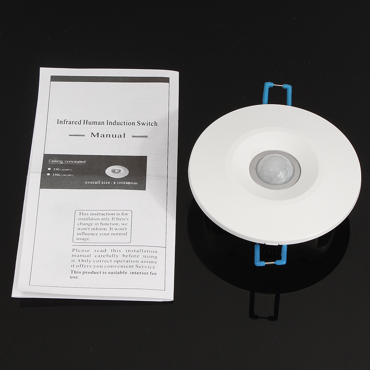 360° Infrared IR Ceiling Wall Recessed Motion Sensor Detector Auto Light Switch