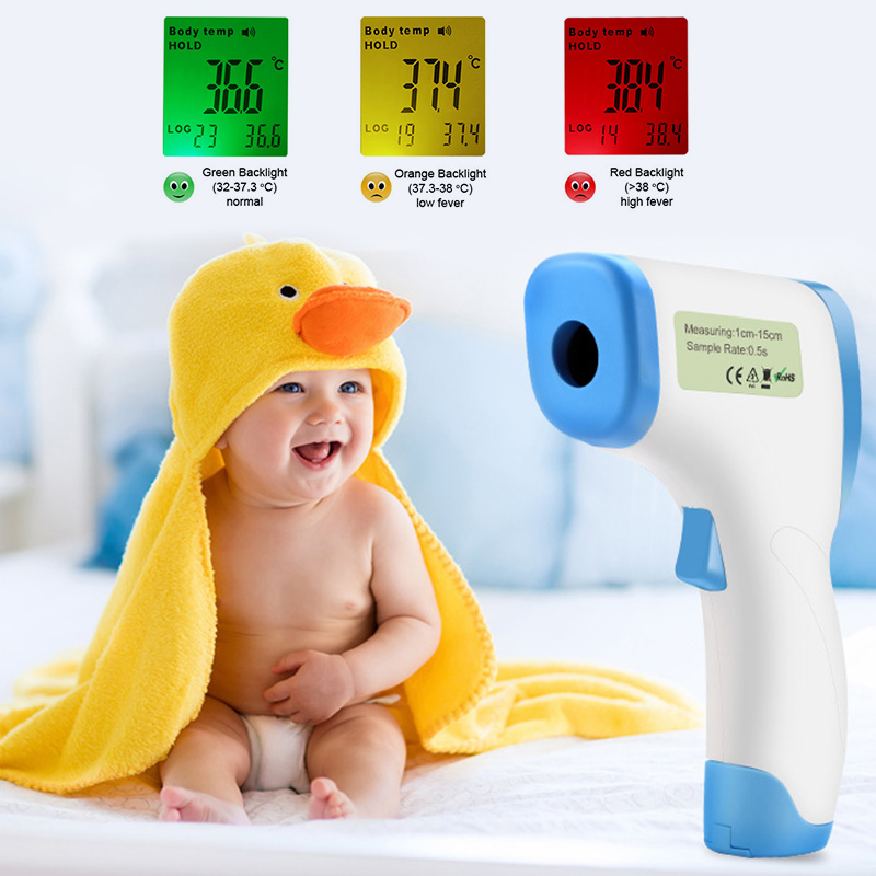 2019 Intelligent 8809C LCD Digital Infrared Thermometer