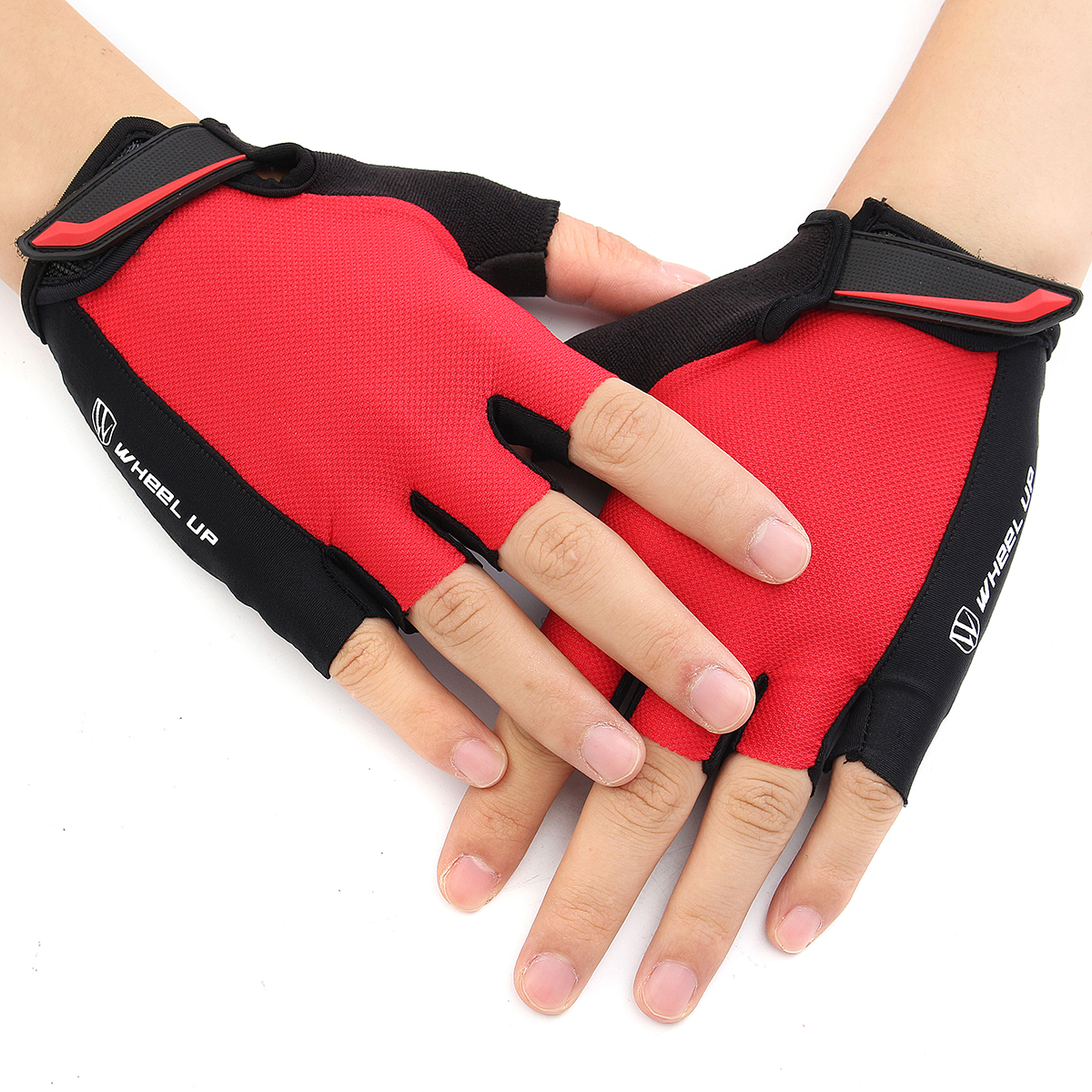 Universial Motorcycle Riding Half Fingers Fingerless Gloves Size S