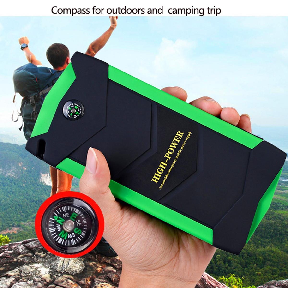 82800mAh 600A Peak 4USB Portable Waterproof Car Jump Starter
