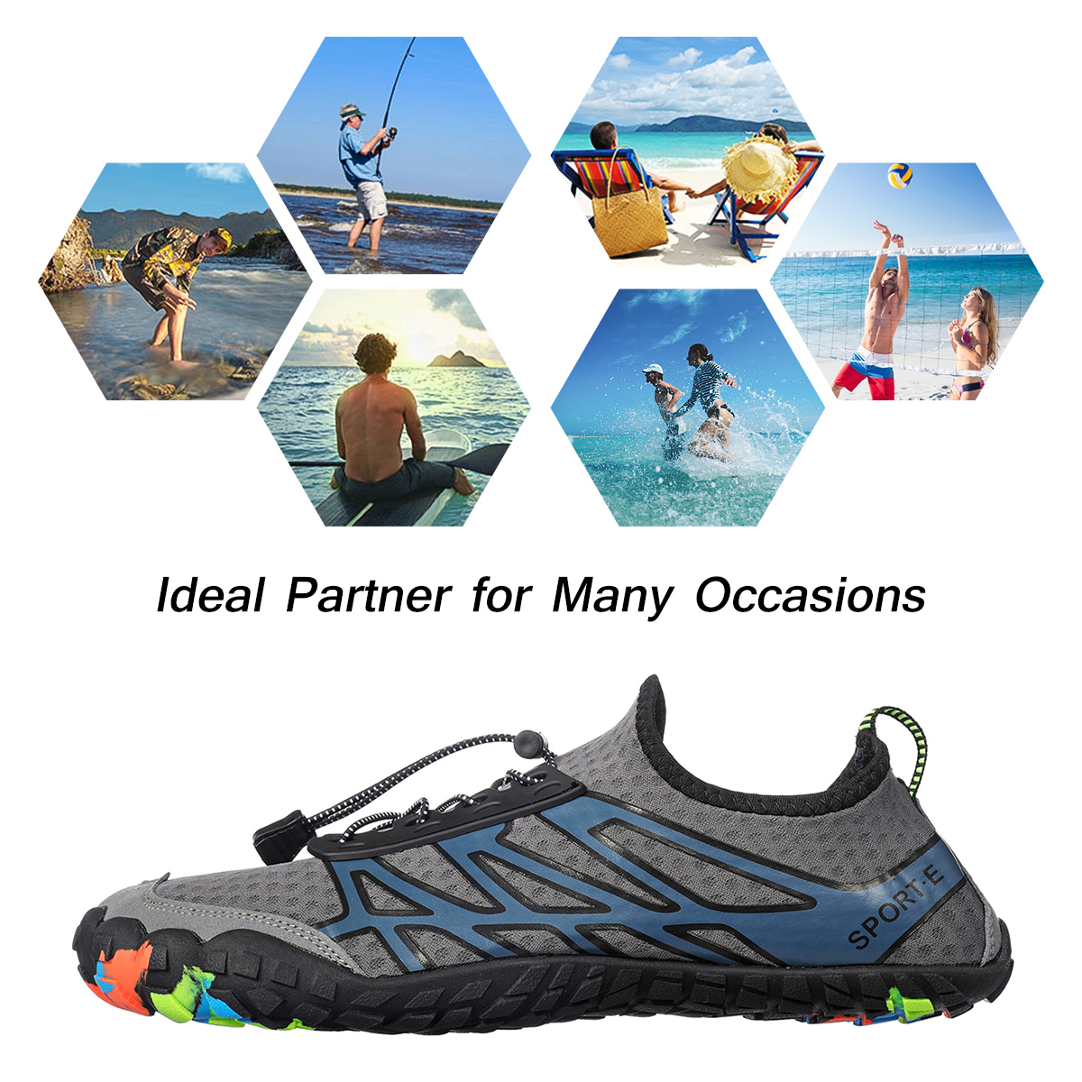 Unisex Water Shoes Quick-Qrying Water Sports Surfing Yoga Fitness Running Walking Beach Sneakers