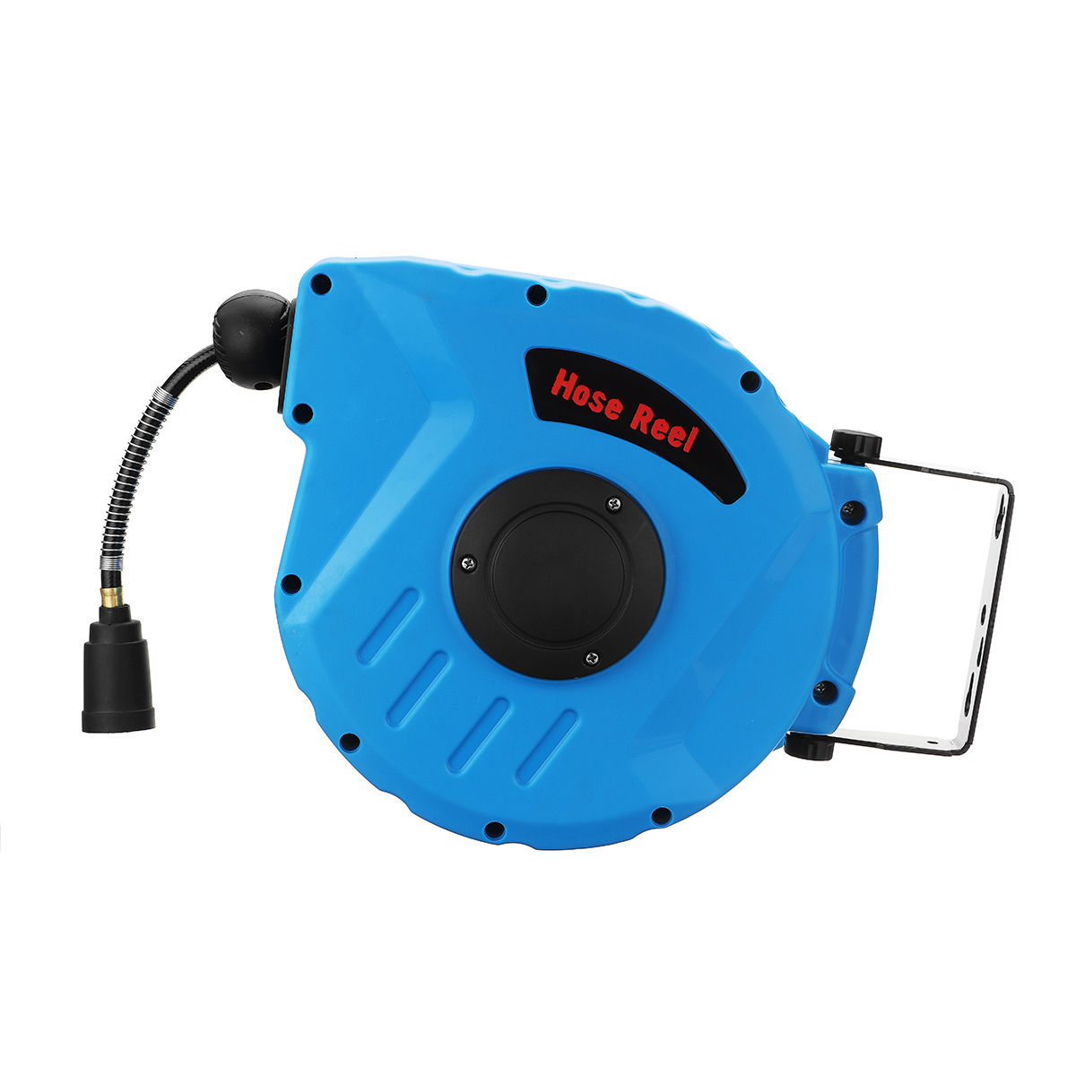 1/4 Inch 12M Retractable Auto Rewind Air 260PSI Hose Reel 180° Rotation Wall Mount Tools Kit