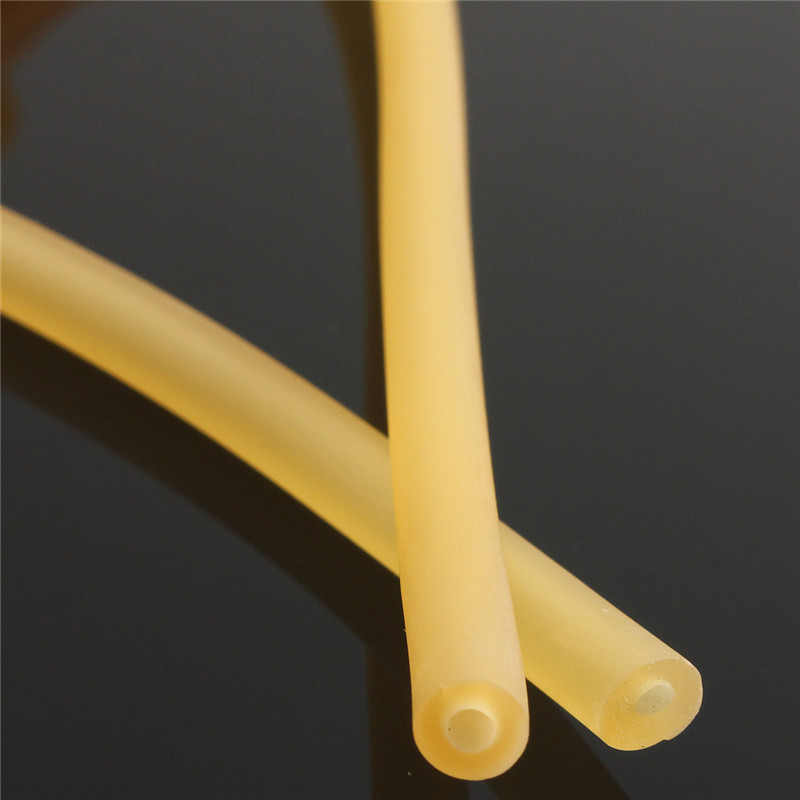 Yellow 2x5mm Natural Latex Rubber Surgical Band Tube Elastic Rubber Rope For Game 1/2/5/10M