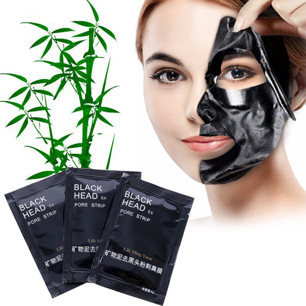 1Pc Black Mask Nose Blackhead Acne Remover Pore Mineral Mud Membranes T Zone Cleaner