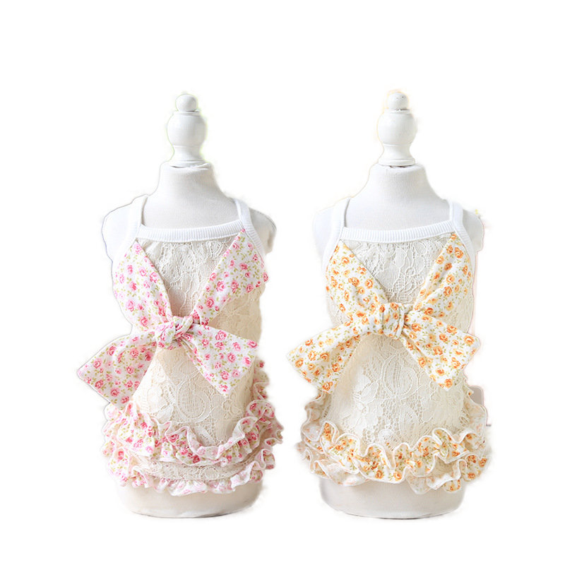 Wedding Small Dog Dress Pet Clothing For Dogs Clothes Cat Dog Clothes Lace Summer Dress