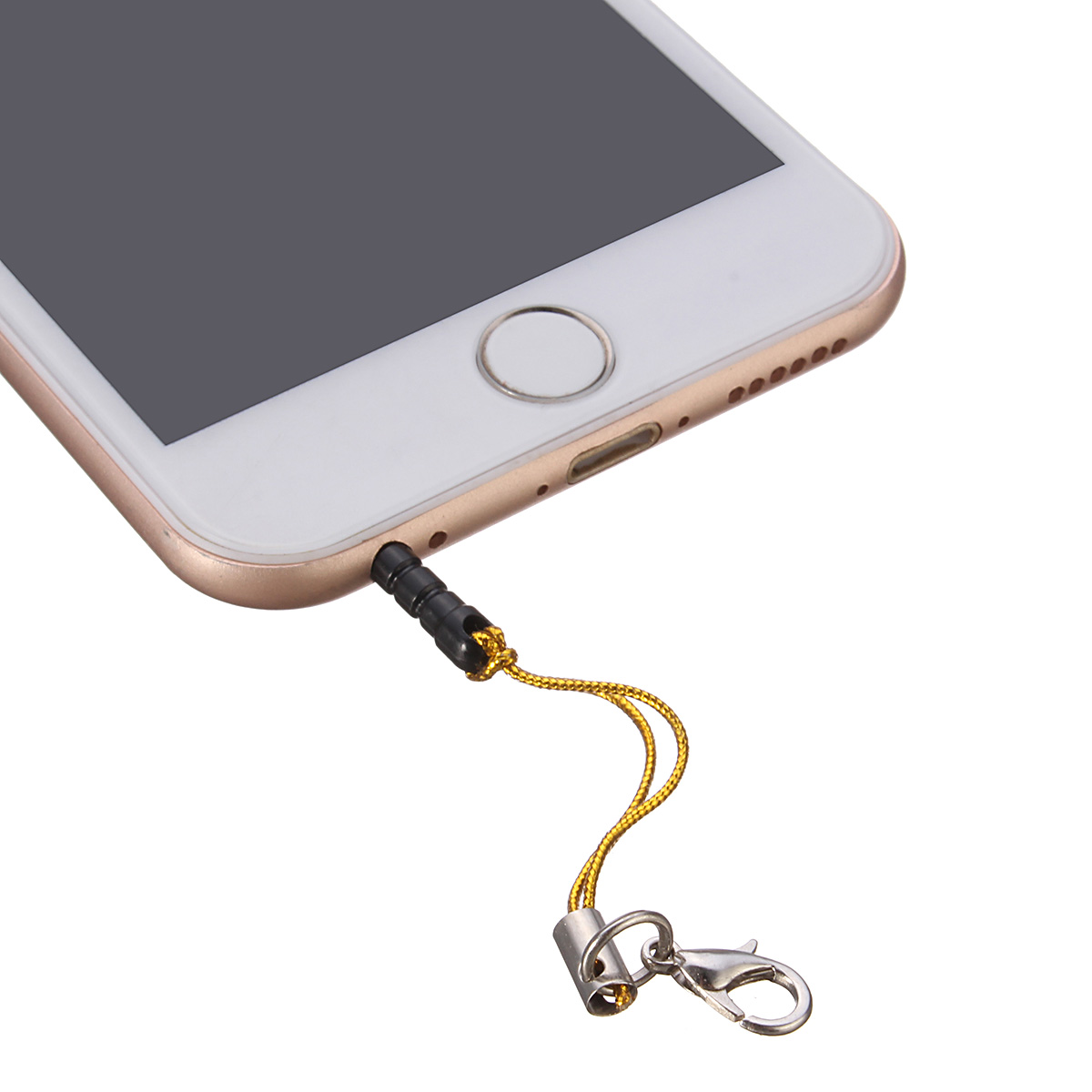 3.5mm Dust Plug Lanyard Clasp Earphone Jack Plug for iPhone Samsung Xiaomi