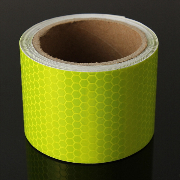 10FT Fluorescent Yellow Reflective Safety Warning Conspicuity Tape Film Sticker