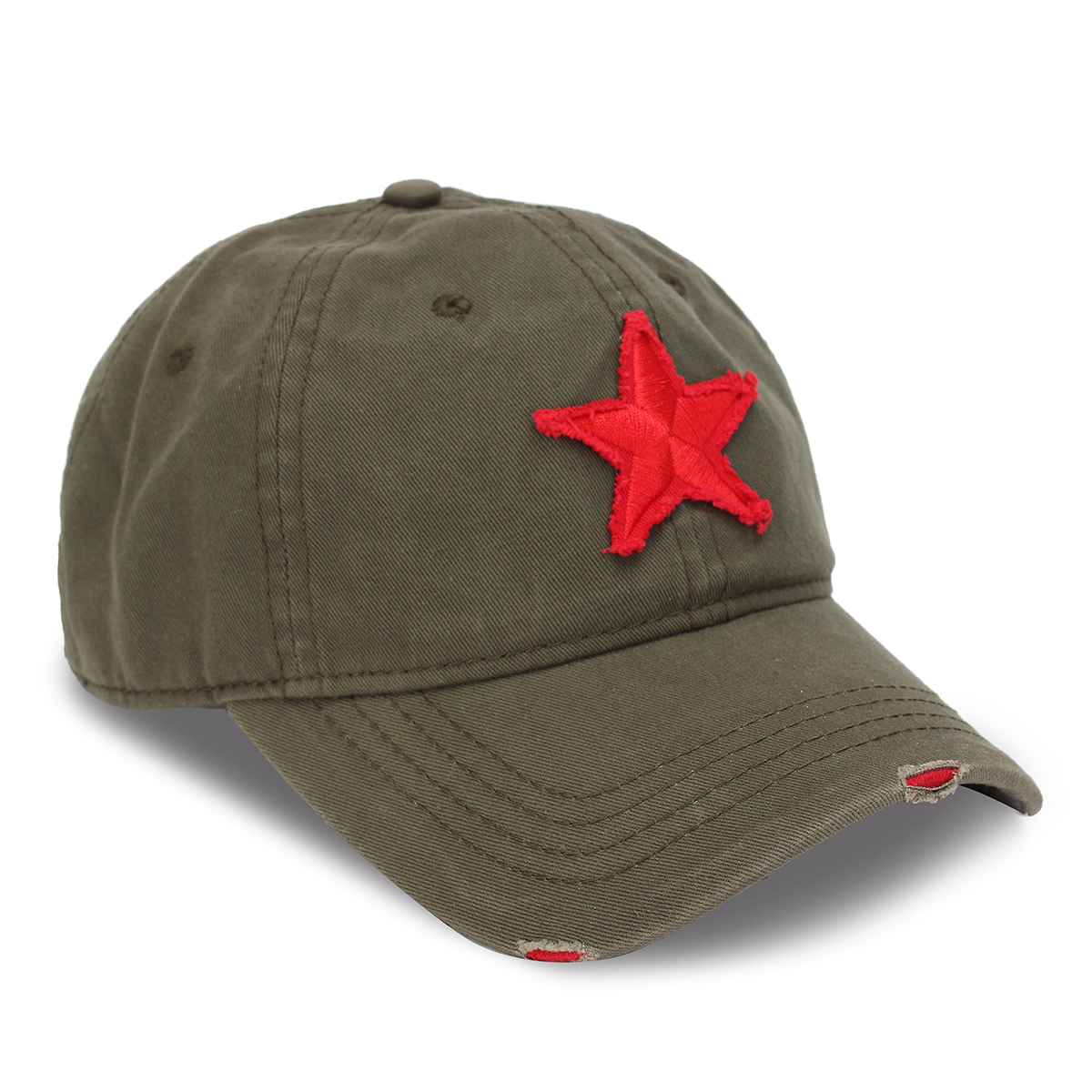 Unisex Baseball Cap Golf Hat Ball Five-Pointed Star Embroidery Casual Sun Caps Outdoor Sports Hat