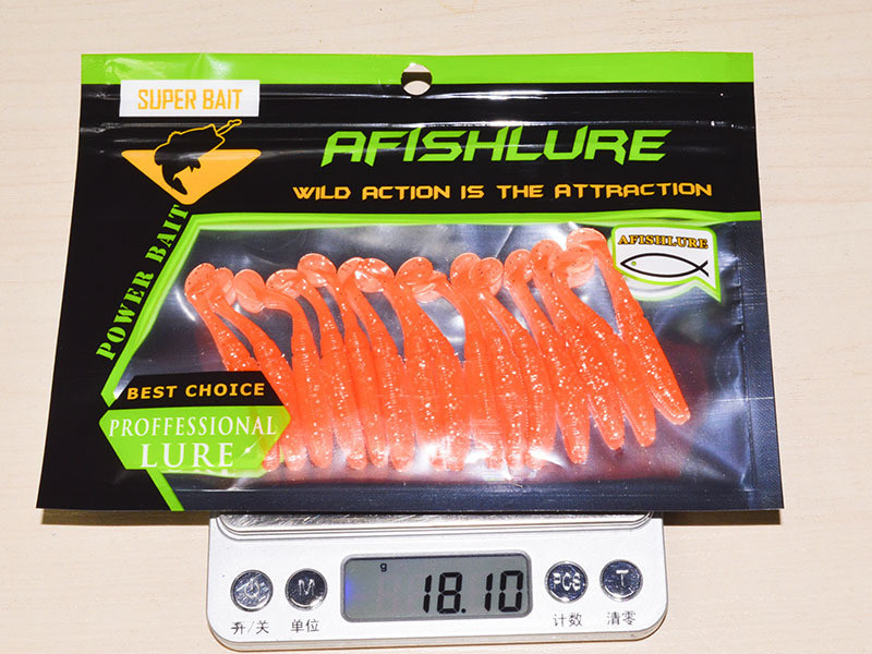 15pcs/bag 50mm 1g Luminous Fishing Soft Lure Artificial T Tail Fishing Bait